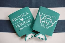 wedding koozie koozie wedding favors sayings amanda crafts