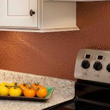 Modern Backsplash Kitchen by Modern Copper Kitchen Backsplash Hammered Copper Kitchen