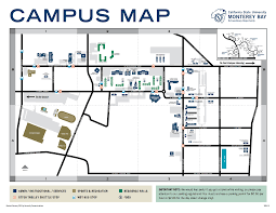 Sacramento State Campus Map by Csumb Map My Blog