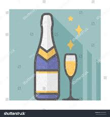 champagne glass cartoon bottle champagne glass stock vector 602900606 shutterstock