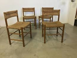 sentou bureau chaises paille chaises vintage en paille et en pin par robert