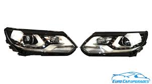 tiguan volkswagen lights volkswagen tiguan bi xenon led drl afs headlights r line oem