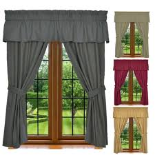 Valances For La Window Curtain Set 5 Piece Set Includes 2 Panels 1 Valance U0026 2