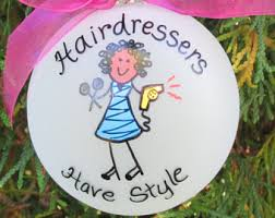 hairdresser ornament etsy