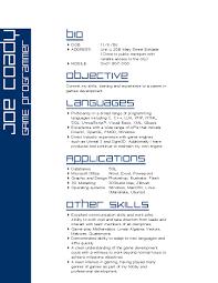 free resume templates bartender games agame sle programmer resume resume for study