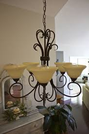 How To Refurbish A Chandelier Chandelier Makeover With Chalk Paint 2 Bees In A Pod