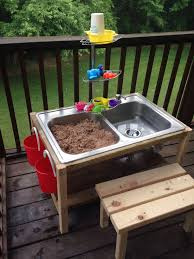 Kitchen Sink Store Diy Sand And Water Table Made From A Thrift Store Kitchen Sink