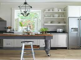 Kitchen Bookshelf Cabinet Trying Kitchen Open Shelving