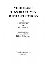 vector and tensor analysis a borisenko i tarapov pdf