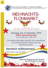 Haus Anzeige Einladung Zum Weihnachtsflohmarkt Haus Der Begegnung St Vinzenz