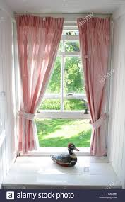 Decorative Curtains Morning Sunshine View From The Bedroom Window With Decorative
