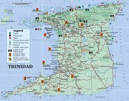 Termina Map Large Detailed Road And Tourist Map Of Trinidad Island Trinidad