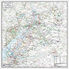 Pin Board Gloucestershire County Wall Map Paper Laminated Or Mounted On