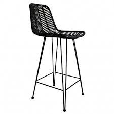 chaise bar de bar en rotin 52x43x103 cm