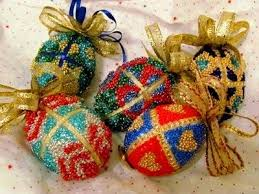 beaded faberge egg ornaments crafts