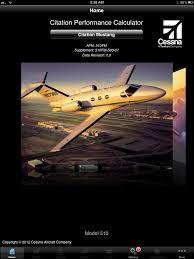 Cessna Citation Performance Calculator Cpcalc App Available For Ipad