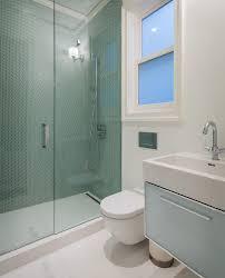 green tile backspash kitchen modern with and