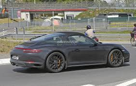 porsche targa 1990 2017 porsche 911 targa gts 991 2 spied near the nurburgring