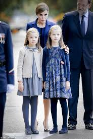 queen letizia brings beautiful daughters spain u0027s national