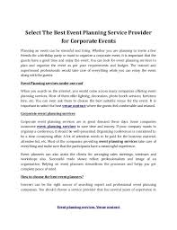 event planning companies event planning services venue contract