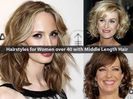 20 most suitable hairstyles for women over 40 with middle length