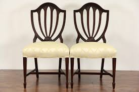 sold set of 6 vintage hepplewhite mahogany shield back dining