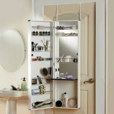 Over The Door Beauty Armoire Small Bathroom Storage Armoires And