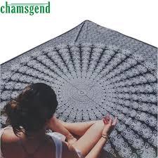 square indian printing towel scarve mandala tapestry beach picnic