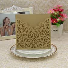 Elegant Wedding Invitations Aliexpress Com Buy Elegant Wedding Invitations 15x15cm Laser Cut