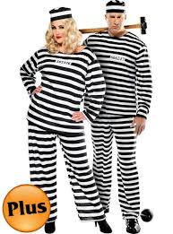 Convict Halloween Costumes Size Lady Lawless Size Convict Prisoner Couples
