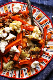 Root Vegetables Roasted - mustardy farro salad with roasted root vegetables and goat cheese