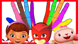 doc mcstuffins pj masks spiderman body paint finger family
