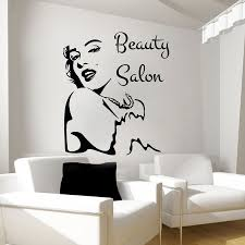 popular beauty salon stickers buy cheap lots new beauty salon wall stickers girl face decal vinyl decals bedroom art decor free
