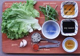 korean lettuce salad sangchu geotjeori justasdelish com