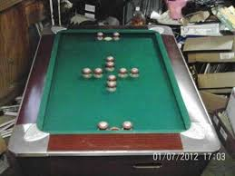 250vintage fischer fiesta 58 bumper pool table in ford city