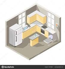 vector isometric design of a kitchen stock vector vectorpocket vector isometric design of a kitchen stock vector 144182665