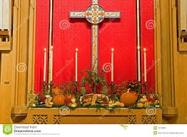 thanksgiving church altar stock image image of holy breads 7279865