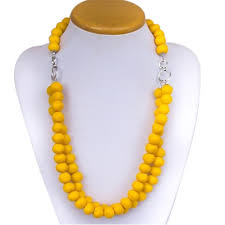 wood beaded necklace images Ladies yellow wood beads necklace at rs 180 piece beaded jpg