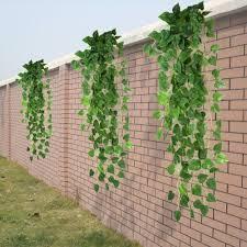 green artificial fake faux scindapsus leaf vine foliage plant