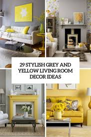 Grey Livingroom by Contemporary Living Room Yellow And Gray Sofa With Bright Chair In