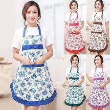 cuisine femme 1 pcs bowknot fleur motif tablier femme adulte bavoirs cuisine
