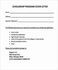 scholarship cover letter examples sample cover letter for