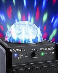 ion bluetooth speaker with lights ion audio party power bluetooth speakers speakers and audio