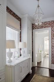 Lantern Pendant Lights Beautiful Brick Bathroom With Roman Shade Lantern Pendant Lights