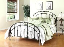 Antique White Metal Bed Frame Metal Headboard Mirador Me