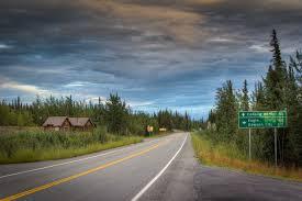Alaska Highway Map by Alaska Highway Guide Border To Delta Junction