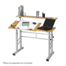 Steel Drafting Table Safco Height Adjustable Split Level Drafting Table 3965mo Fast