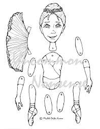 ballet 1 dance ballet jointed articulated paper doll