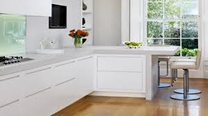 Kitchen Designs For L Shaped Rooms Light Brown L Shaped Kitchen With Island Youtube