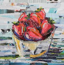 torn paper collage bowl of fruit dotty gallery